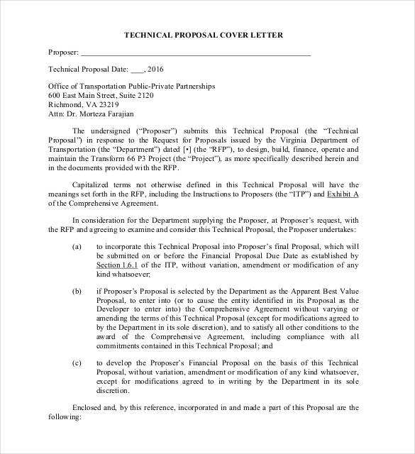 Proposal Letter Template 24+ Free Word, PDF Document Formats