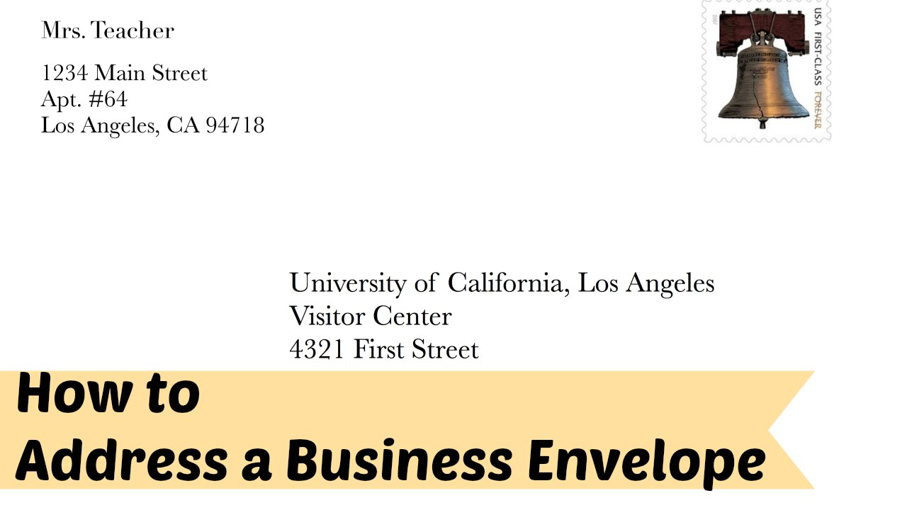 How to Address a Business/Formal Letter Envelope YouTube