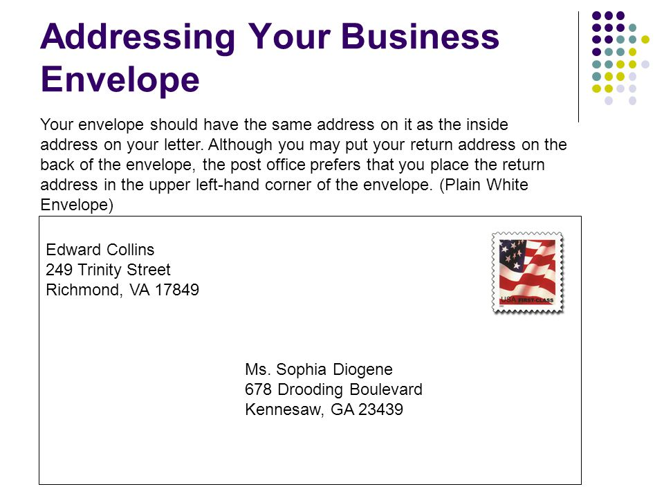 Address A Business Envelope Best Of Business Letter Envelope