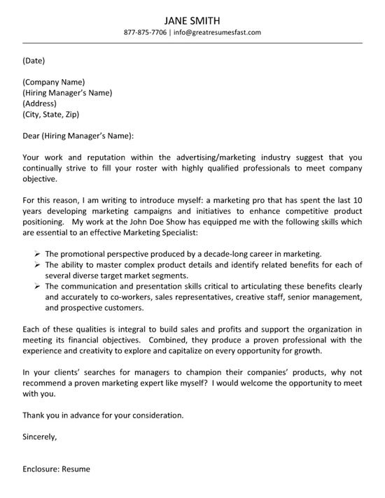 Advertising Cover Letter Example | Pinterest | Cover letter