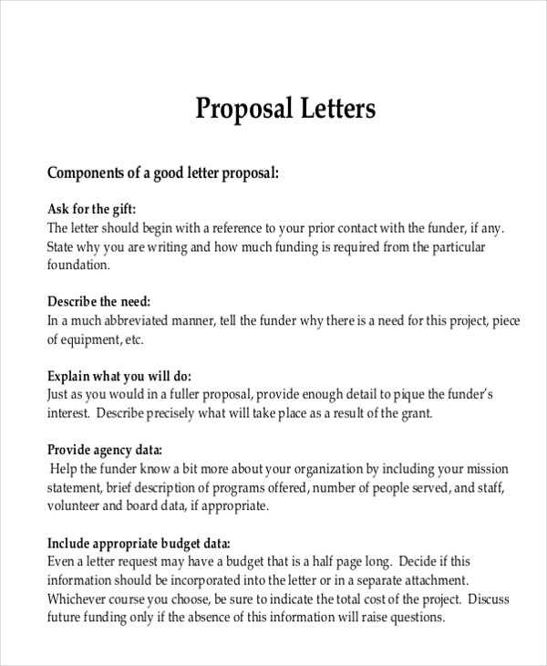 advertising request letter