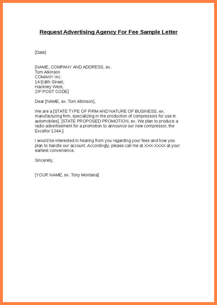 Direct Mail Advertising Request Letter (with Sample)
