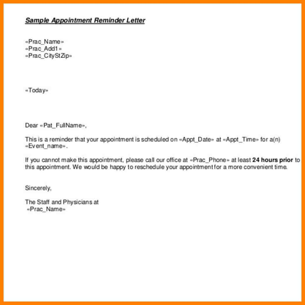 patient appointment reminder letter template Boat.jeremyeaton.co