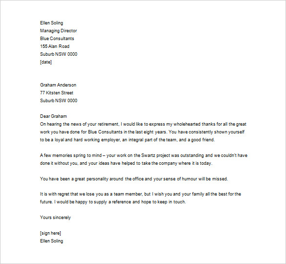 letter to employee Romeo.landinez.co