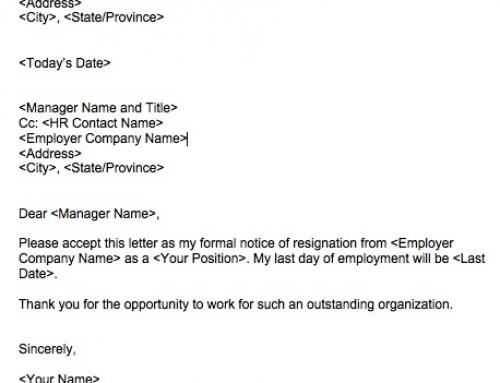 asking an employee to resign