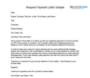 How To Write A Letter Requesting Payment Images Letter Format