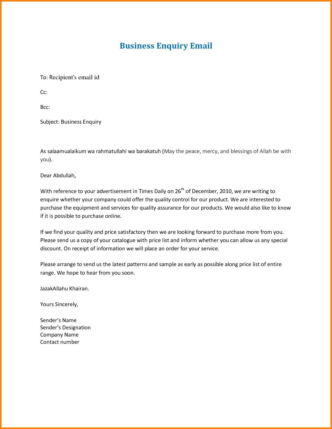 Business Email Format Sample Fresh Business Email Format The Free