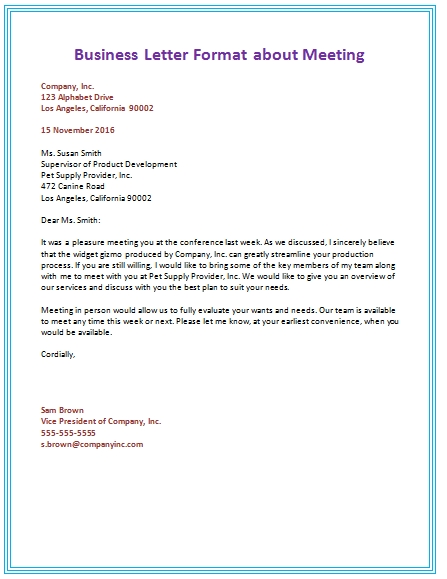 Business Format Letter Scrumps