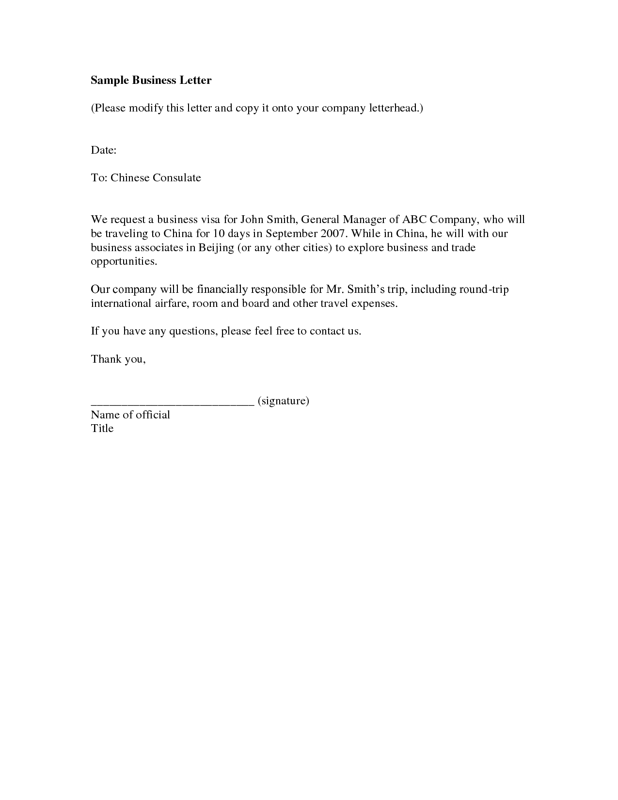 Business Introduction Letter Sample 4 – elrey de bodas