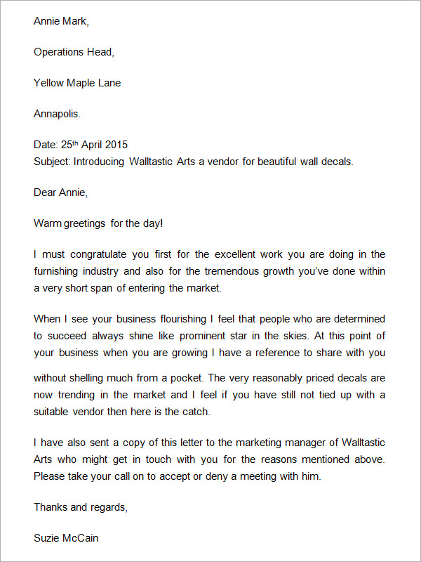 Business introduction letter samples scrumps 13 sample business introduction letters pdf doc sample templates expocarfo Gallery