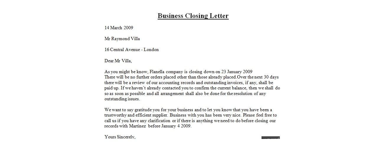 Business Letter Closings | Crna Cover Letter