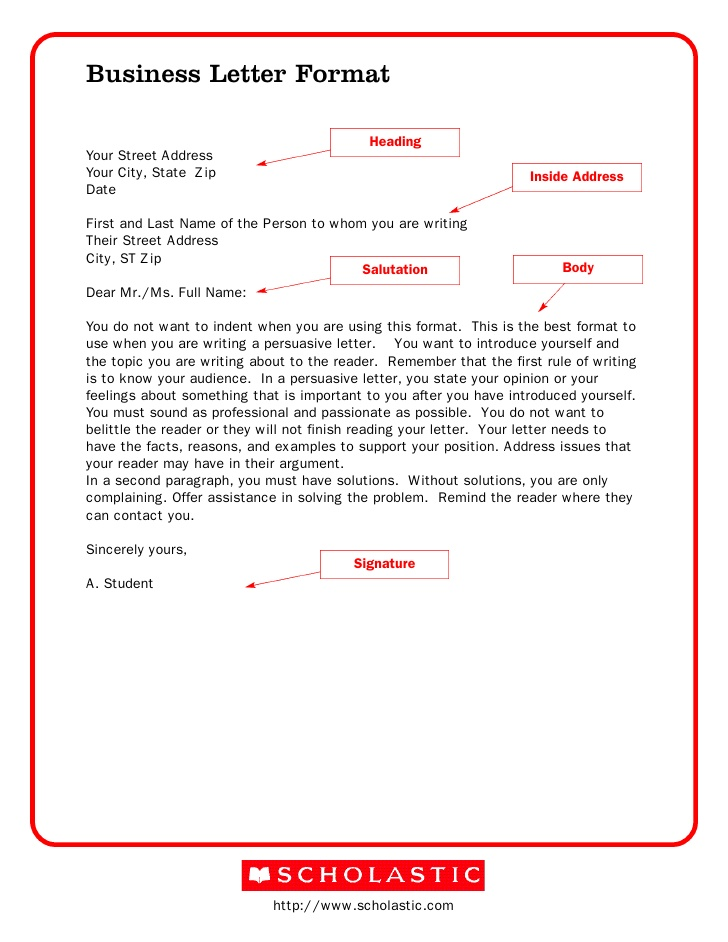 sle business letter format template 28 images business letter