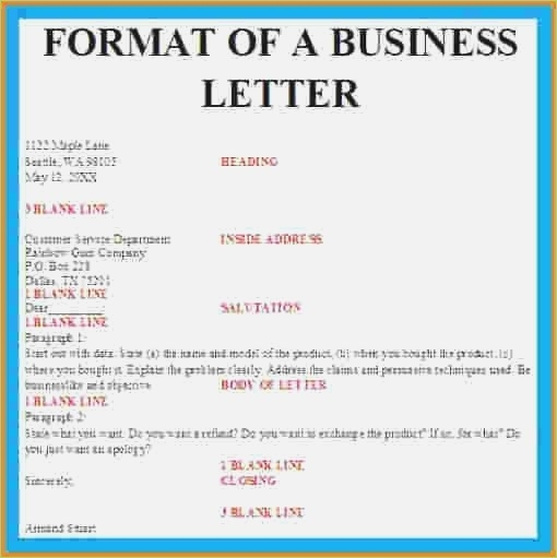 Business Letter Format With Letterhead – Thepizzashop.co Within
