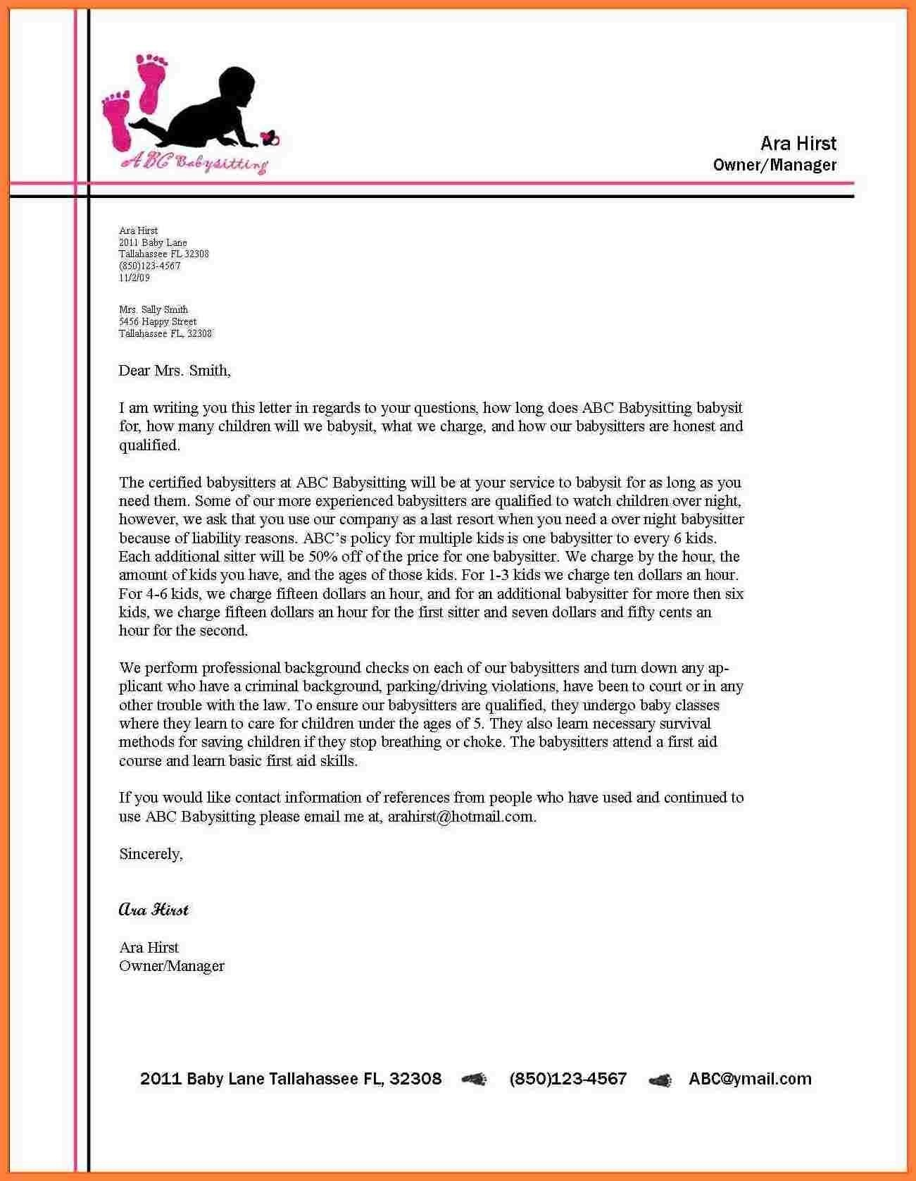 Proper Format Of Business Letter On Letterhead Refrence Proper