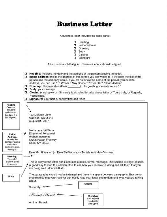 how to write a business letter heading Romeo.landinez.co
