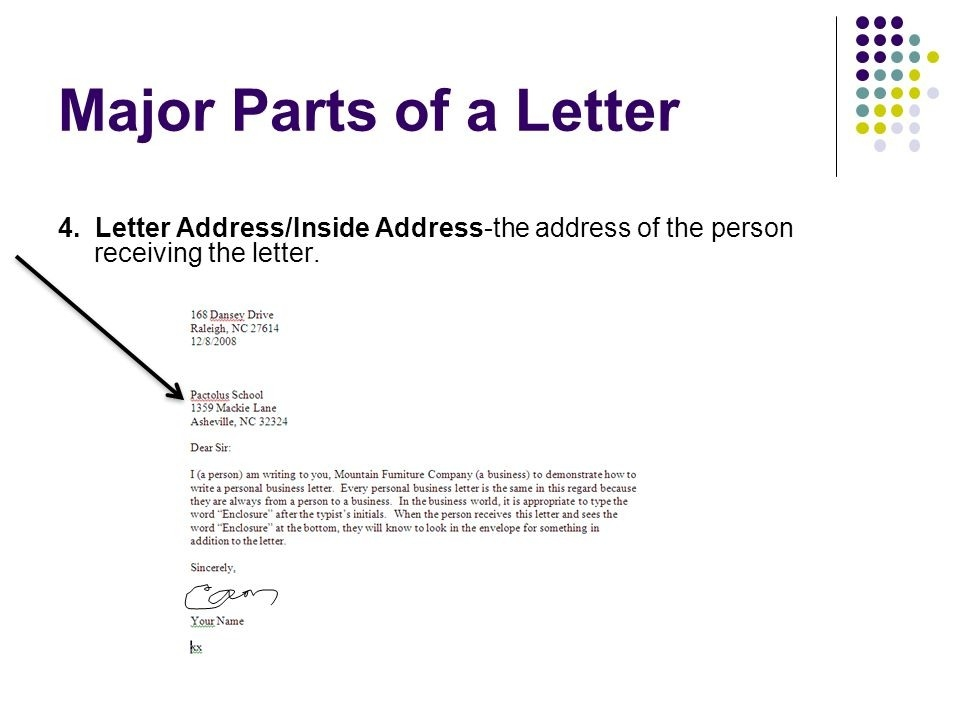 Inside Address Of A Business Letter icebergcoworking