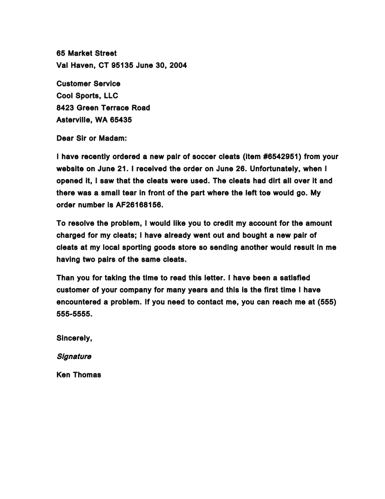 Example Of Business Complaint Letter 5 Image Titled Write A