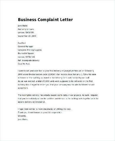 letter of complaint to a business Boat.jeremyeaton.co