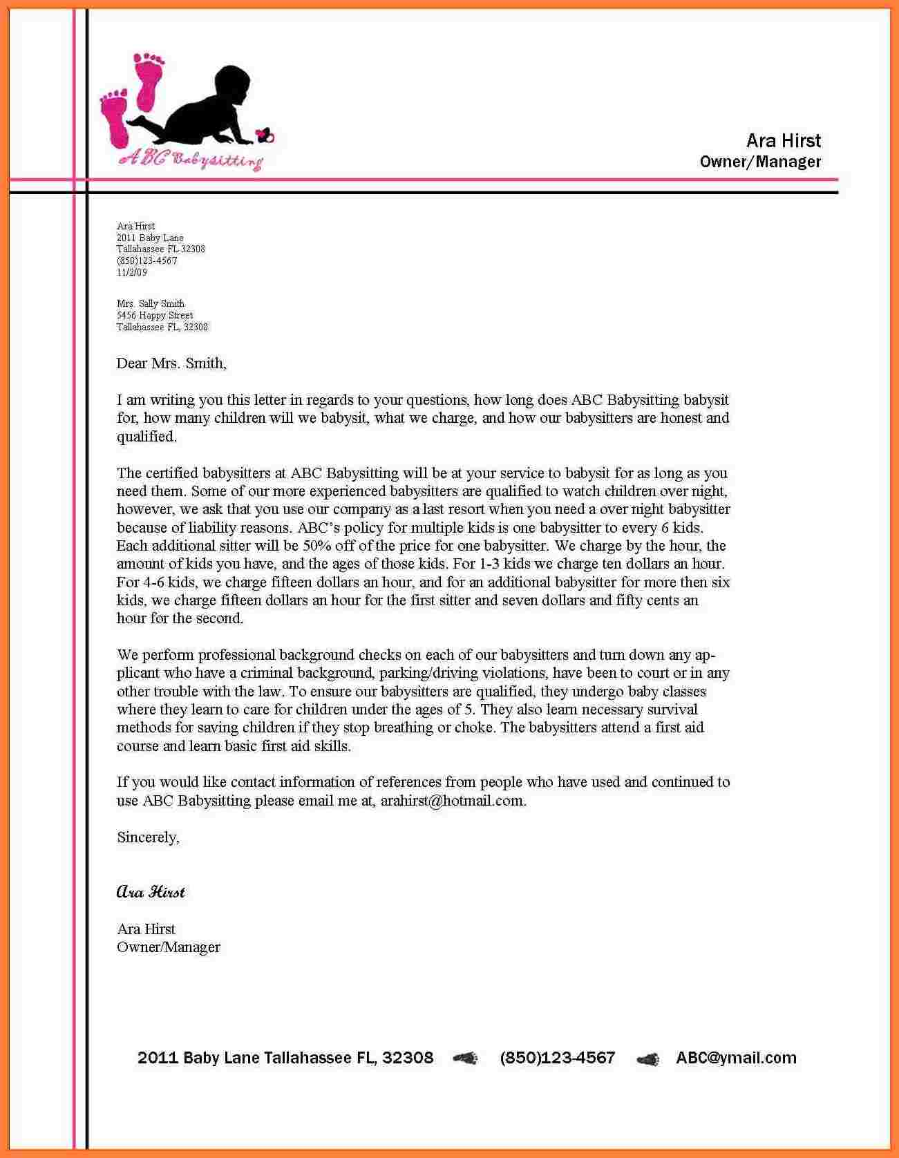 Example Of A Business Letter With Letterhead 1 – isipingo secondary