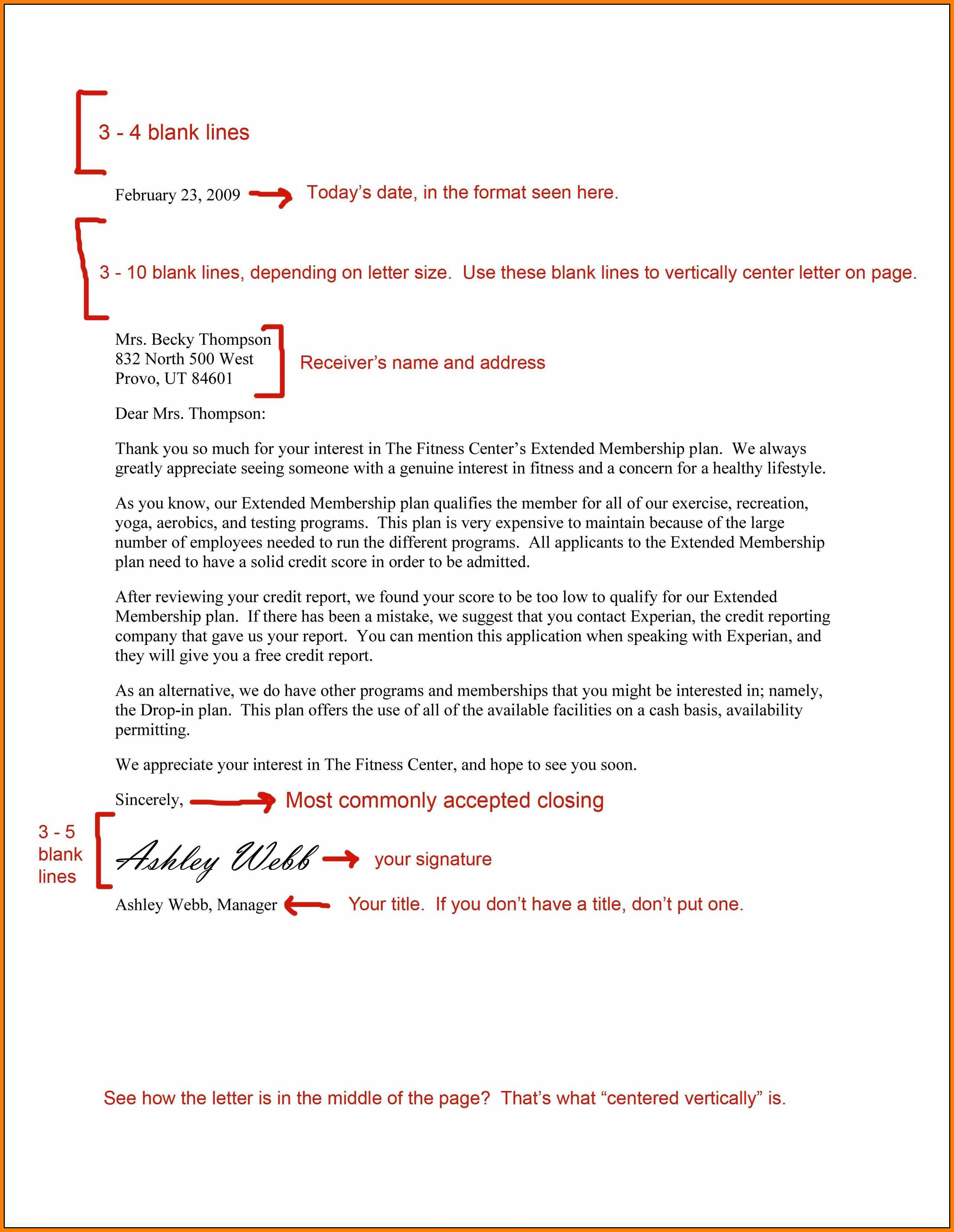7+ formal business letter spacing | Financial Statement Form