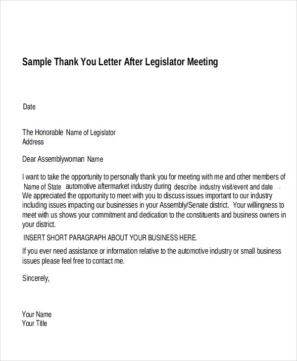 Sample Business Thank You Letter – 12+ Free Word, Excel, PDF