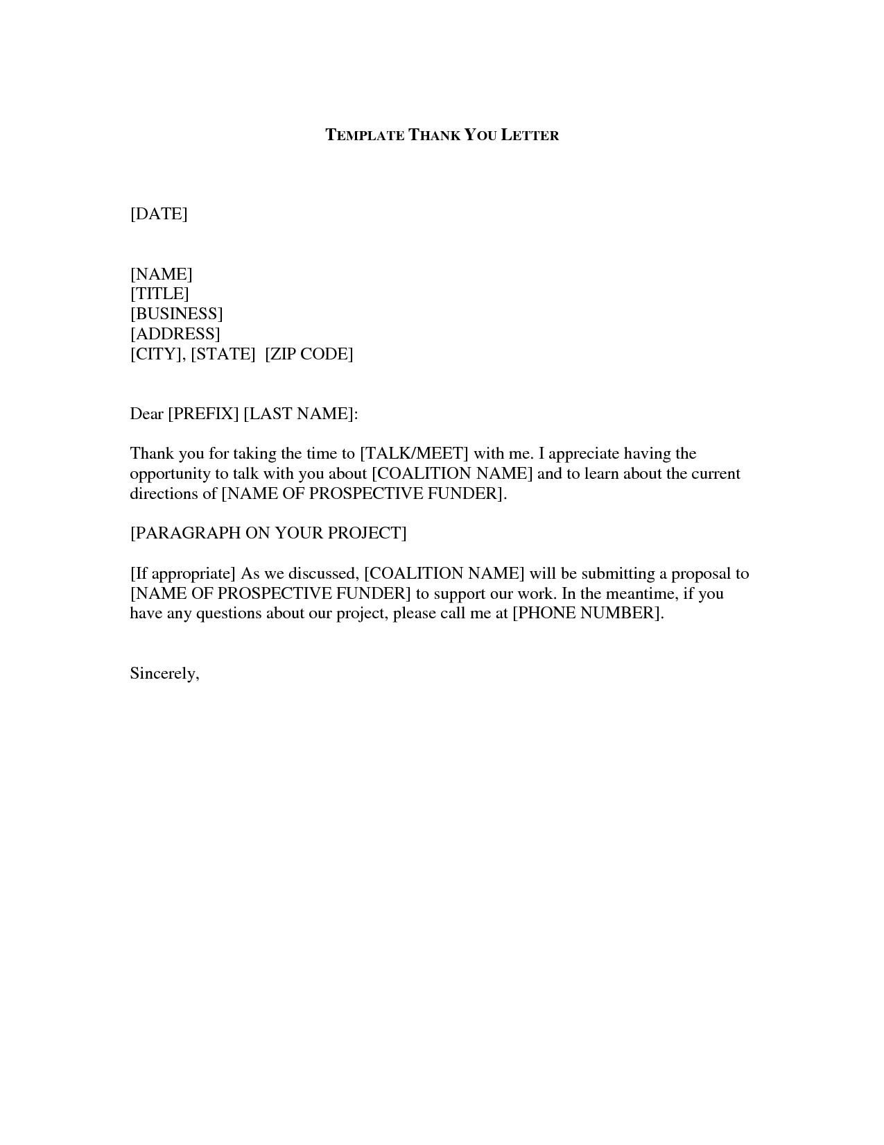 Thank You Letter Format | Business Letter Thank You Scrumps