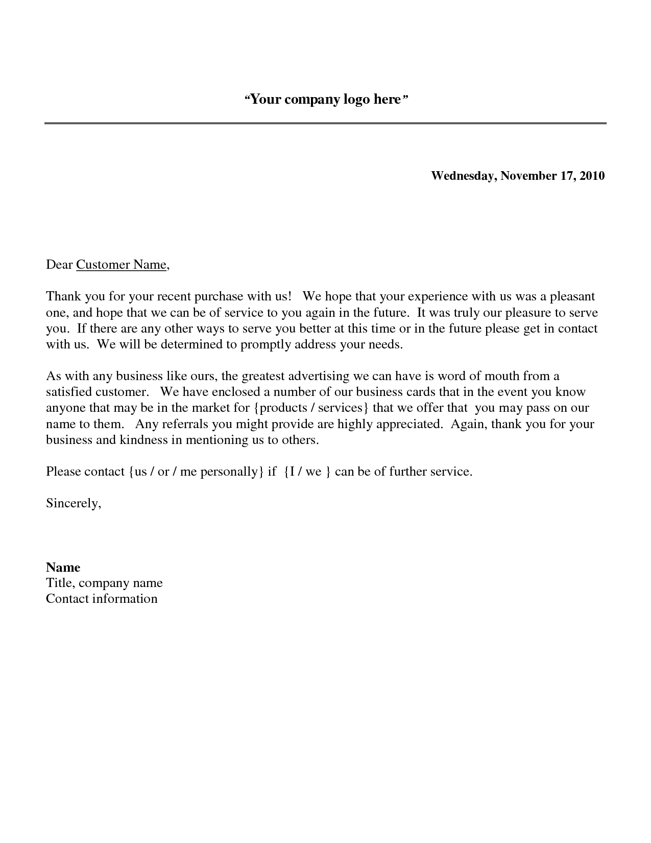 Sample thank you for your business letters – 7 samples, examples.
