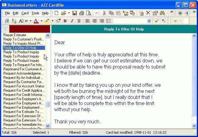 Download the latest version of All Business Letter free in English