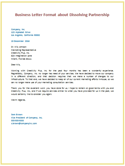 Business letter example of for students letters samples sample