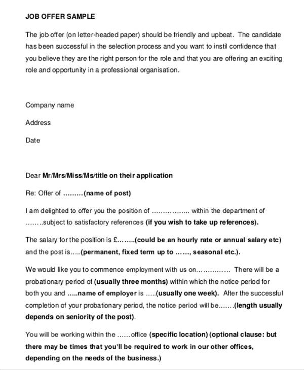 Business Offer Letter Template 7+ Free Word, PDF Format Download