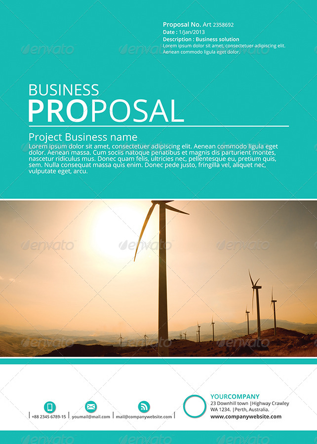Business Proposal Cover Scrumps