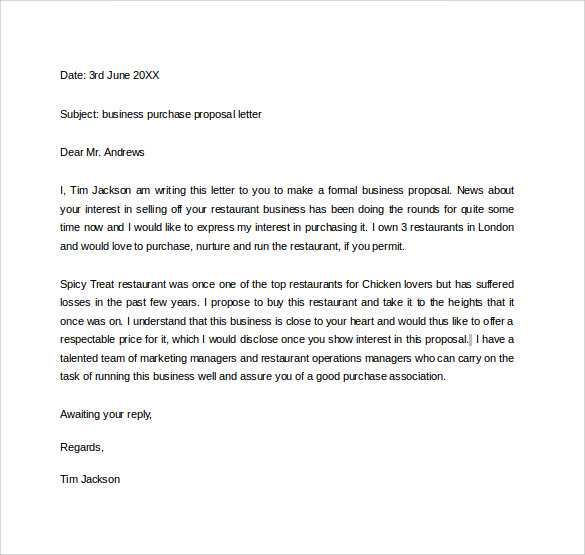 email template for business proposal 30 business proposal