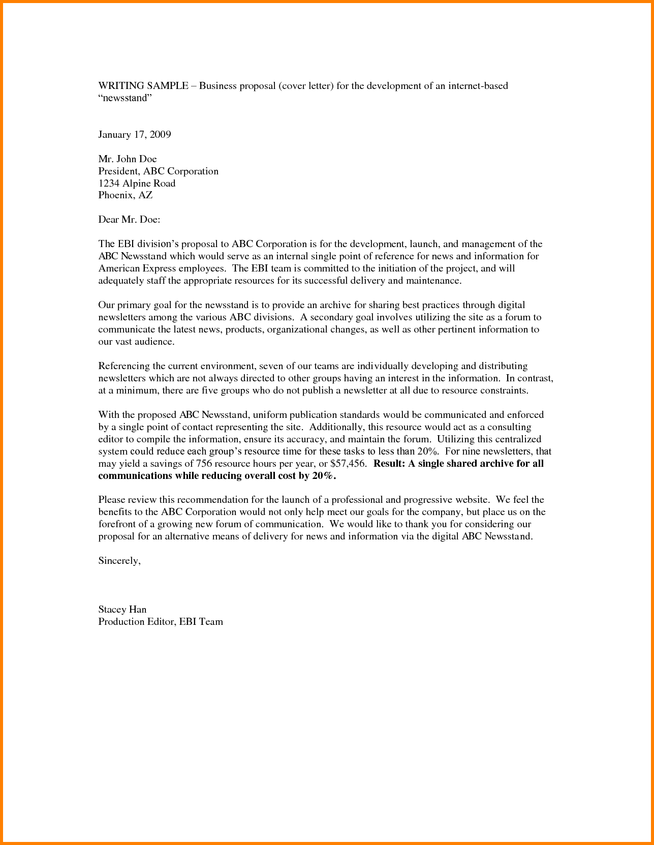 Business Proposal Email Template Scrumps