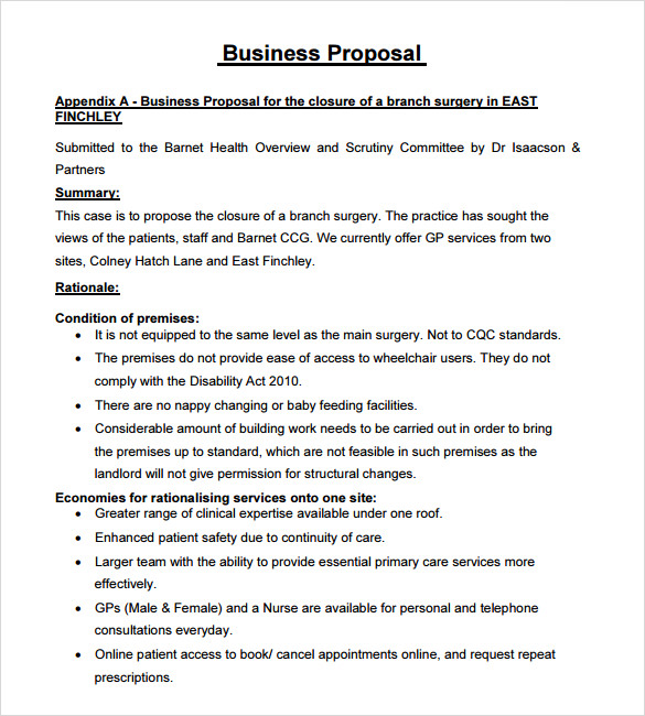 free template for business proposal examples business proposal