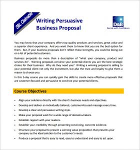 proposal writing format samples