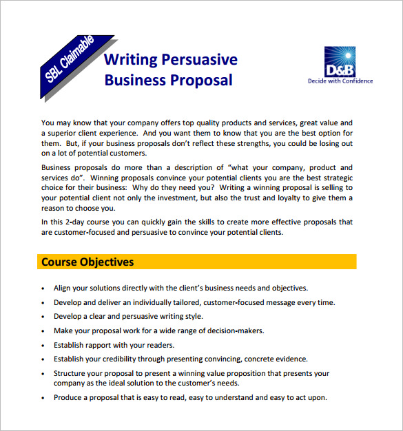 proposal format template 15 writing proposal templates free sample
