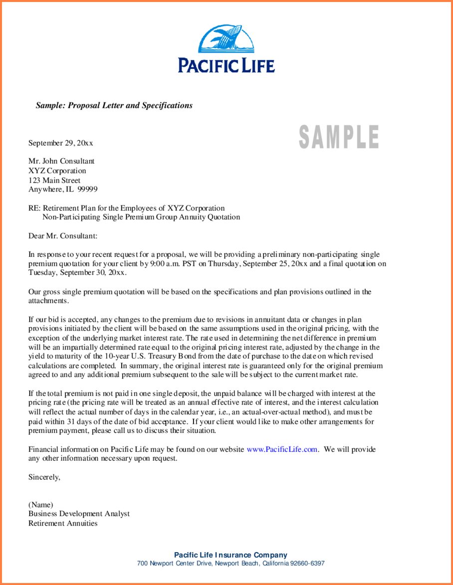 Sample Of A Business Proposal Templated Example | Print & Email