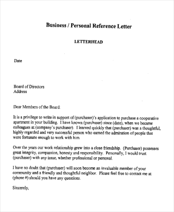 10+ Sample Business Reference Letter Templates PDF, DOC | Free