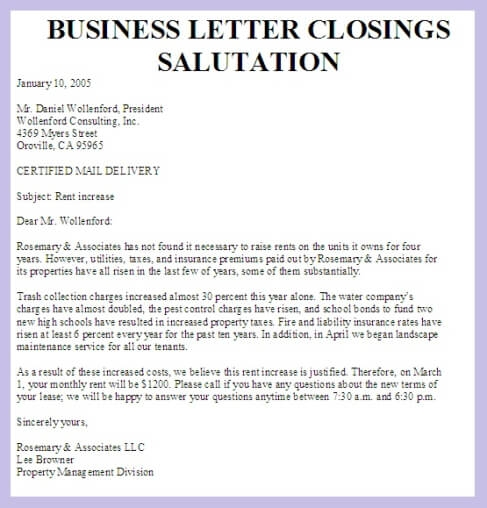 Business Letter Greeting Harfiah Jobs