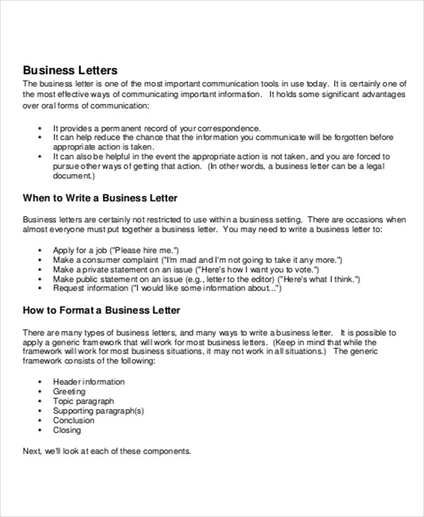 sample business letter salutation 5 examples in word pdf business