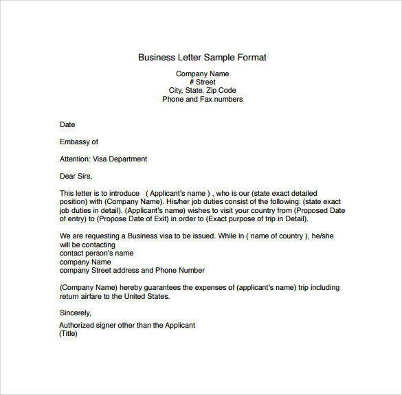 Business Sample Letter Scrumps