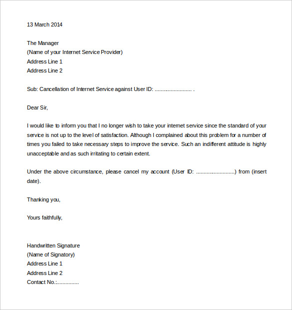 termination letter templates business contracts writing a work