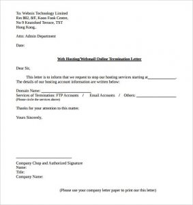 Cancellation Of Services Letter Sample | scrumps