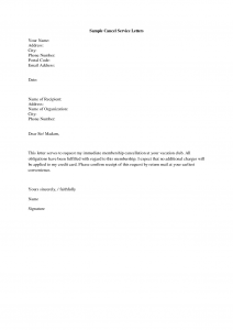 Similar Posts Service Termination Letter Template