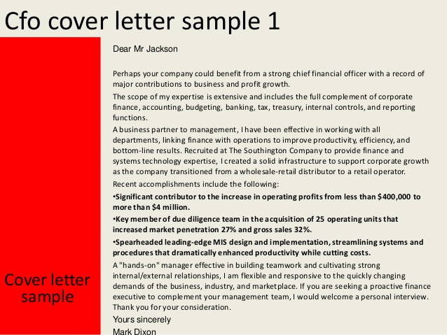 cfo cover letter 28 images exle of a professional letter to