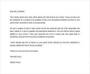 Character Reference Letter For Student Scrumps