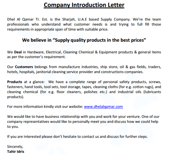 4 Company Introduction Email Samples formats, Examples in Word Excel