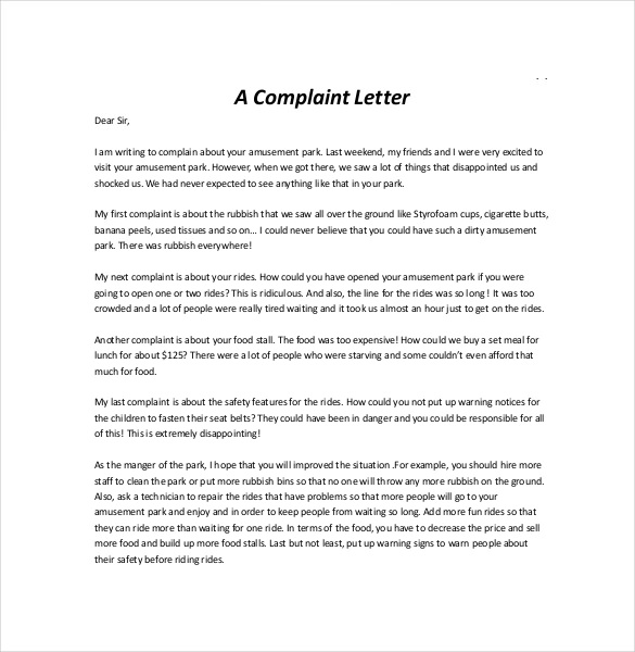 Complaint Letter | All information about How to write a Complaint