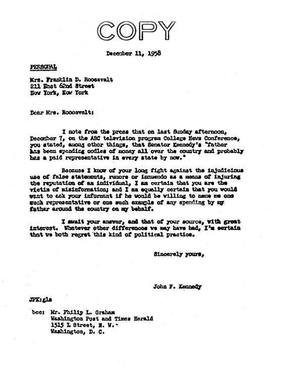 Copy of a business letter jfk 01 efficient with – markposts.info