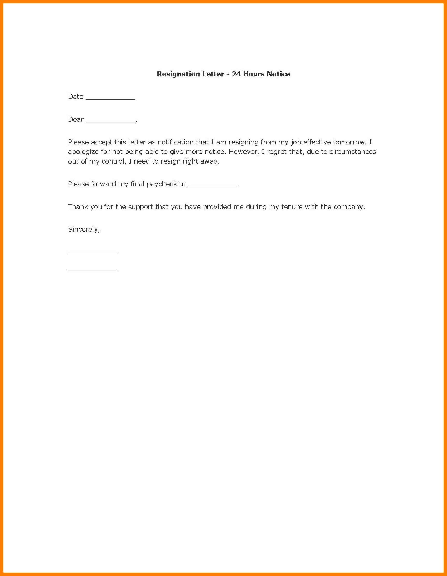 Sample Resignation Letter Format Malaysia Copy Simp Epic Sample